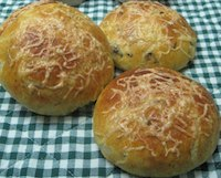 Portabella And Colby Buns With Birdseye Chillies