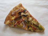 Bacon, Brussel Sprout, And Blue Cheese Pizza