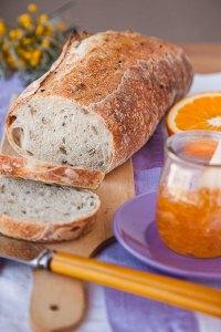 Sesame And Sunflower Seeds Sourdough Bread