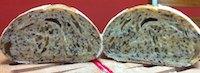 Semolina Bread With Black Sesame Seeds