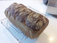 Home-baked 100% Soaked Wholemeal Bread