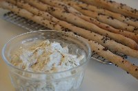 Beer Grissini With Sour Cream Onion Dips
