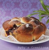 Chocolate & Walnuts Stuffed Bulgarian Easter Bread