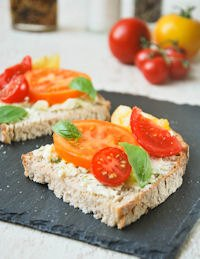 Toast With Mascarpone And Tomato