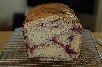 Boysenberry Jam Swirl Loaf