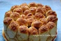 Eggless Cinnamon Pull Apart Bread