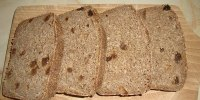 Oatmeal Sourdough Rye Bread With Raisins