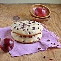 Apple Cranberry Flat Bread