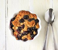 Baked French Toast Topped With Blueberry Crisp