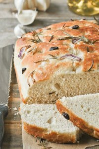 Focaccia With Rosemary And Garlic