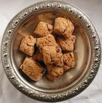 Brown Scones With Walnuts And Golden Raisins