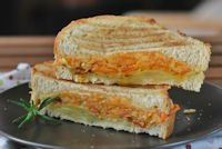 Vegetable Sandwich With Herbes And Three Cheeses
