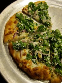 No-Knead Pizza With Kale
