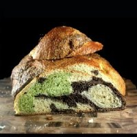 Chocolate And Pistachio Marble Challah