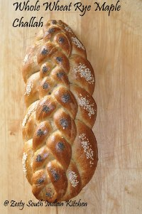 Whole Wheat  Rye Maple Challah