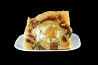 Bacon, Cheddar And 'Eggs In Wells' Focaccia