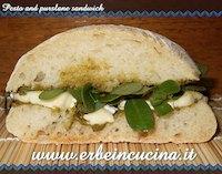 Pesto And Purslane Sandwich