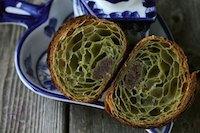 Matcha Croissant With Sourdough Starter