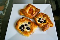 Sourdough Danishes With Cream Cheese Filling