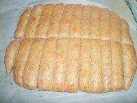 Sourdough Kamut Flaxseed Breadsticks