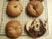 Mini Chocolate Chip Bagels