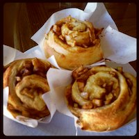 Apple Ginger Brioche Rolls