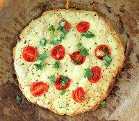 Oat And Rice Pizza Crust W/ Lentil Hummus. GF