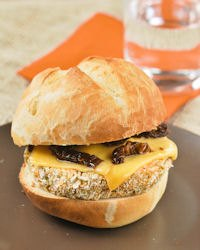 Pea Burger With Cheese And Tomatoes
