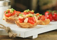 Crostini Of Beans, Tomatoes And Gremolata