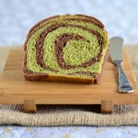 Matcha-Chocolate Tangzhong Bread