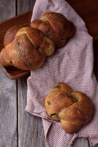 Two Sourdough Ricotta Soft Bread Rolls