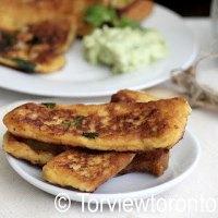 Savoury Bread Toast With Avocado Dip