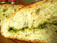 Rocket Pesto Sourdough Bread