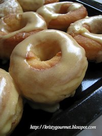 Homemade Dunkin' DonutsWith Maple & Honey Frosting