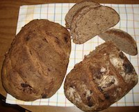 Whole Wheat Sourdough With Flax Seeds And Dates