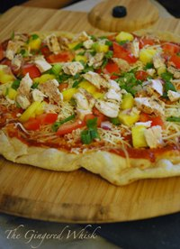 Hawaiian Sourdough-Beer Pizza, On The Grill