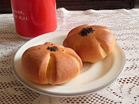 Eggless Custard Buns