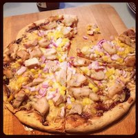 Barbecue Chicken And Corn Pizza