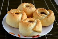 Eggless Sweet Rose Rolls