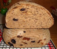 Cherries,Prunes And Flax Seeds Sourdough Bread