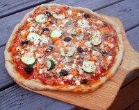 Sourdough Grilled Vegetarian Pizza