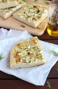 Zucchini And Goat Cheese Focaccia