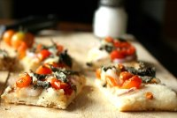 Basil And Cherry Tomato Focaccia