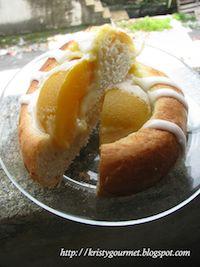 Fluffy Yeasted Peach Tart