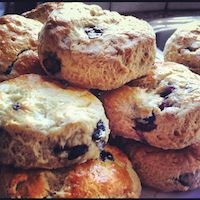 Maple Syrup And Blueberry Buttermilk Scones