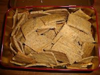 Sourdough Crackers With Chia Seeds And Coconut Oil