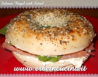 Salmon Bagel With Sorrel