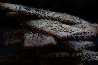 Seedy Quinoa Olive Oil Crackers