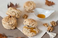 Whole Wheat Flour Scone With Walnuts And Honey