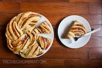 Peruvian Manjar Rose Bread